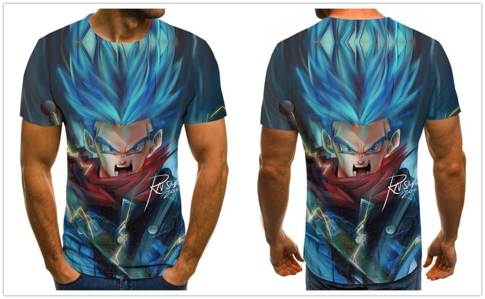 Summer New Dragon Ball Z 3D T Shirts Boy Tops Tees Unisex Short Sleeve Casual Japanese Anime T Shirts Plus Size XXS-6XL