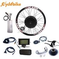 Tipo cassete 8s ou 9s do jogo da bicicleta e para o motor traseiro 65 km/h 48v 1500w kit de conversão da bicicleta elétrica para 20