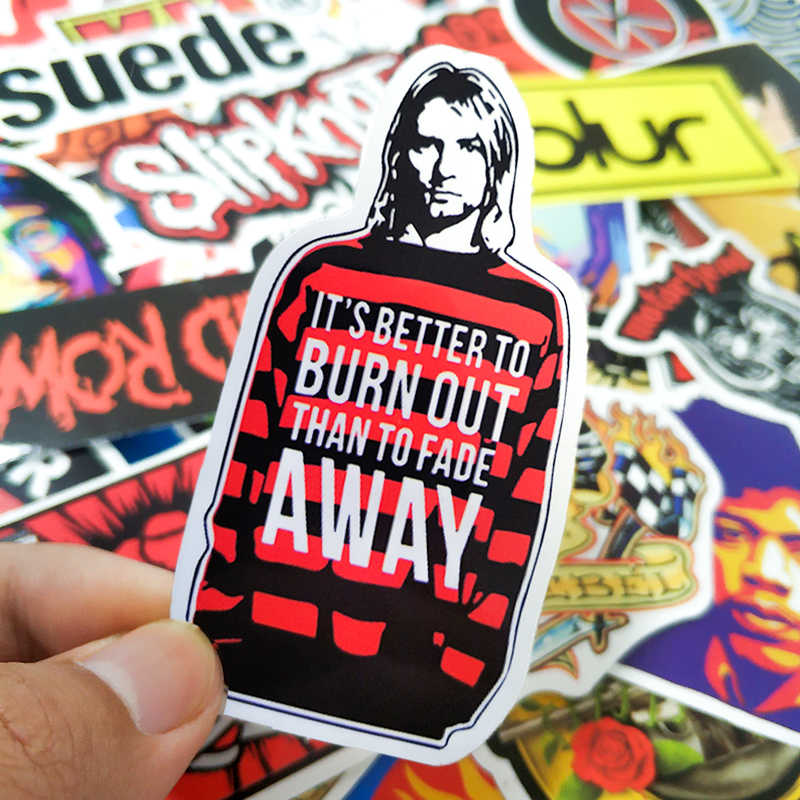 52 Pcs Musik Rock And Roll Retro Band Stiker Nirvana Graffiti JDM Gitar Motor Laptop Bagasi Skateboard Stiker