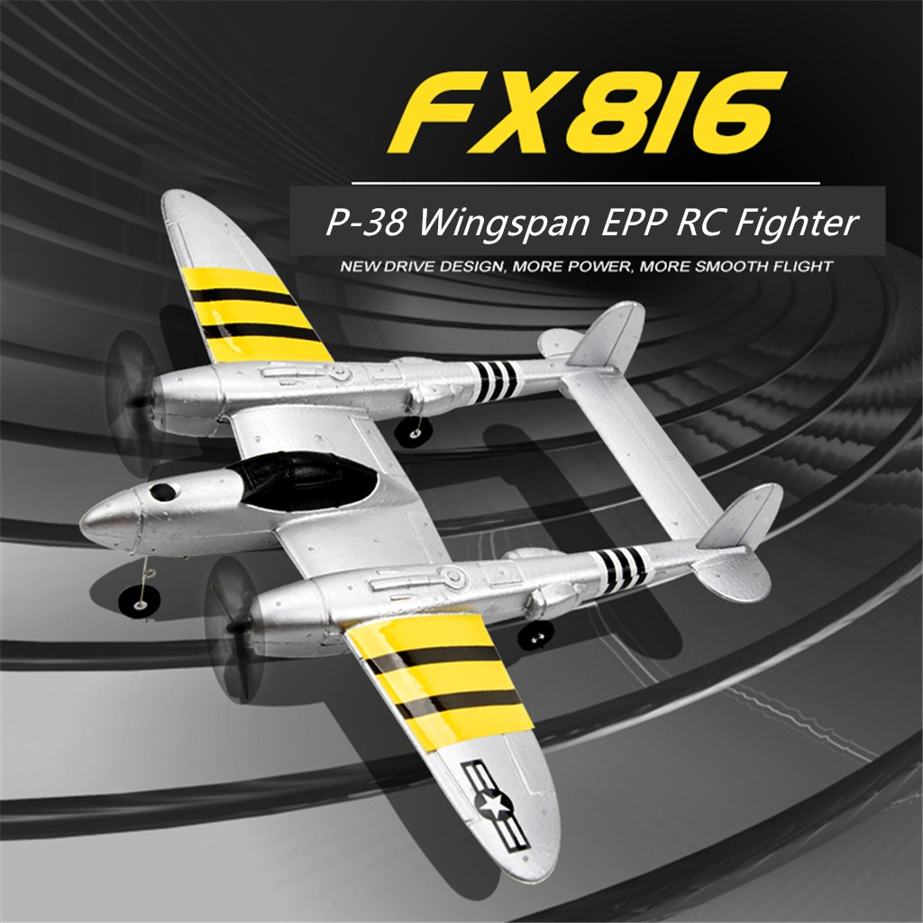 FX-816 P38 2.4GHz Wingspan RC Fighter Simulation Aircraft Airplane Model Toy Toys For Children Kids Toys