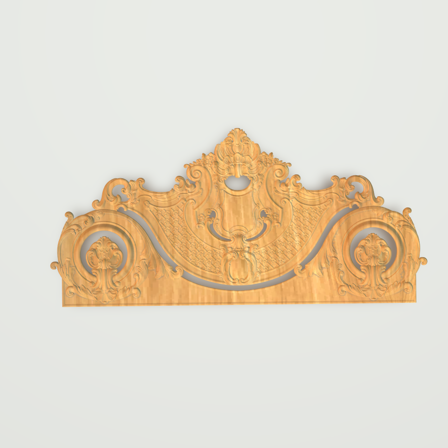 Four Pieces Of Bedroom Bed 3D Relief STL Format Front Back Side Files CNC Woodworking Carving ArtCAM Aspire Types Design File