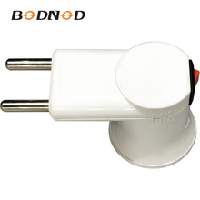 Original Lamp Holder Plug Adapter With Switch E27 Light Bulb Wall Socket White European Plug Socket Markel Viko