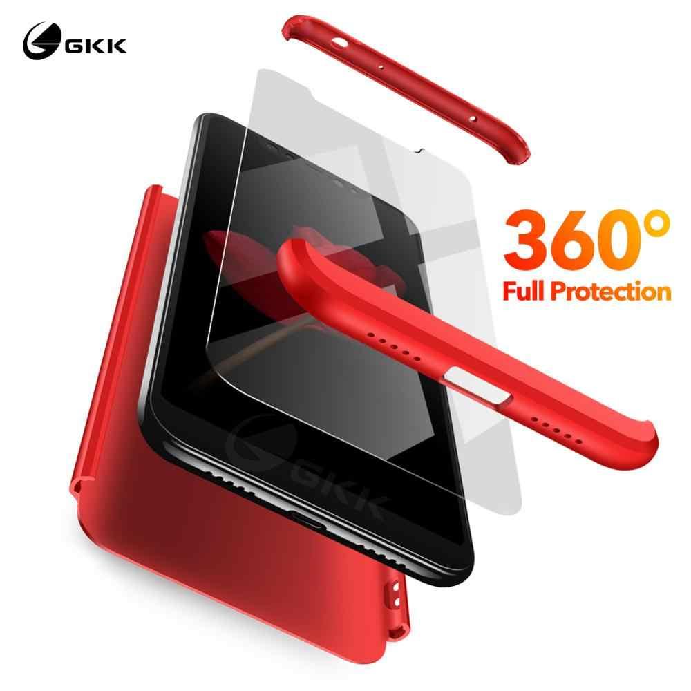GKK 360 حافظة حماية كاملة لهاتف Xiao mi Red mi S2 A2 Lite 4X6 pro 6A 7 حافظة متينة غير لامعة لهاتف Xiao mi A2 A3 8 Lite 9 SE