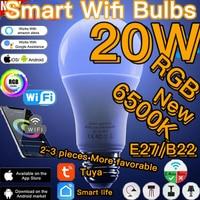 Lampadina a LED intelligente da 20W E27 B22 telecomando WIFI/IR lampada magic Vuur Multicolor dimmerabile RGB Bluetooth Nightlight Alexa