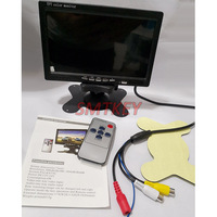 7inch color camera monitor view 2ch video input cctv monitor pal & ntsc auto view car parking monitor