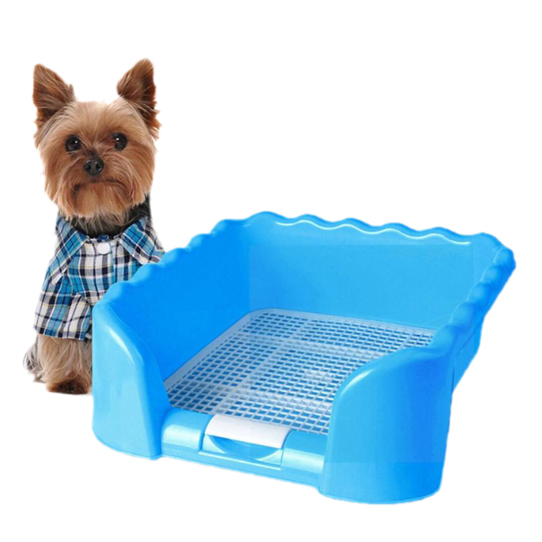 Portable Puppy Training Tray with Fence for Pet Dogs and Cats Potty and Pee Training Indoor 12