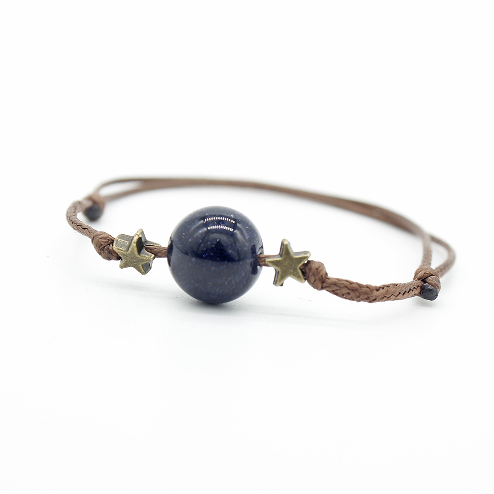 Simple 12mm Single Natural Stone Bead Bracelet for Men Women Adjustable Hand Jewelry Gift DropShipping