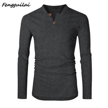 2019  Autumn Winter Men's Slim Sweaters Casual V-neck Sweaters For  Autumn Winter Men's Athleisure Tops Fashion Blouse Hot Sales