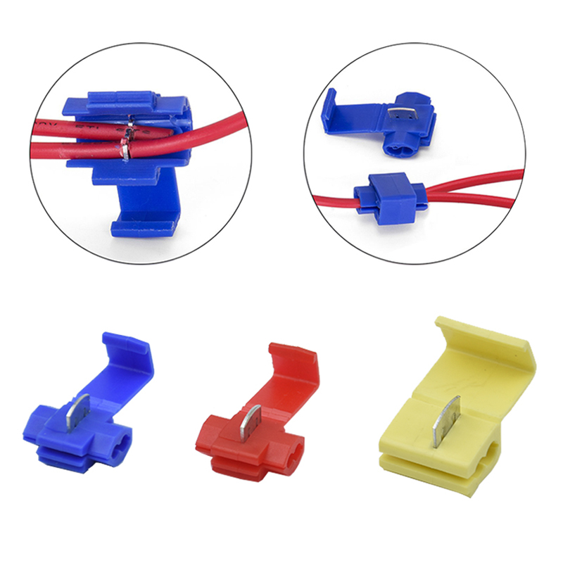 2 1000 Pcs Fast Quick Scotch Lock Wire Cable Clamp Terminal Spade Back font b Crimp