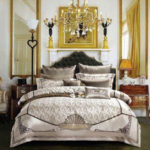 Image 1 - Svetanya Königlichen stil Brokat Bettwäsche Set könig königin doppelte größe Bettwäsche