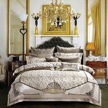 Svetanya estilo real brocado ropa de cama de Reina rey tamaño doble cama