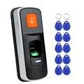 OBO DC12V RFID система контроля доступа отпечатков пальцев биометрический дверной замок для отпечатков пальцев домашняя поддержка sd-карта WG26 две...