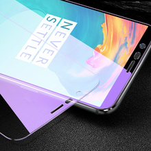 JGKK 2.5D Tempered Glass For Oneplus 3 5 5T 6 6T 7 Oneplus6 1+ Anti-blue Ray Purple Light Protective Film Screen Protector