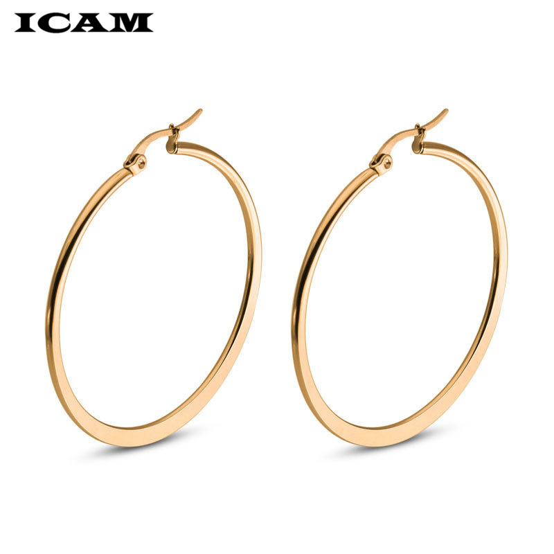 Icam Trendy Large Hoop Earrings