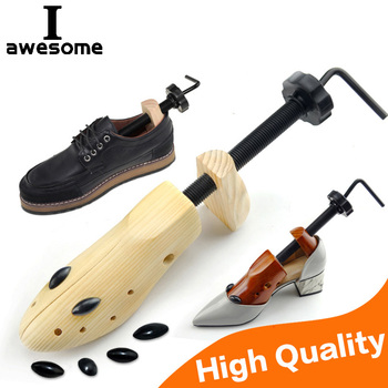 1 Piece Wood 2-Way Wooden Shoe Trees Adjustable Shape For Women Men Shoes Tree Professional Shoe Stretchers Extender Keeper 2 pieces new arrival solid pine shoe tree adjustable men and women shoe stretcher 2 way wooden shoes shaper adjustable tree