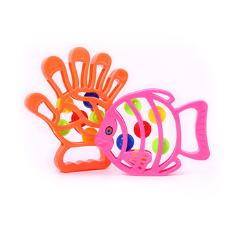 Baby Musical Rattles Toy Infant Toddler Hand Shaking Bell Educational Toys Cartoon Hand Fish Shape Bell Teether Toys Instrument недорого