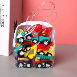 6 шт. модель автомобиля игрушка потяните назад автомобиль игрушки Мобильный автомобиль пожарная машина такси модель ребенок Мини автомобил...