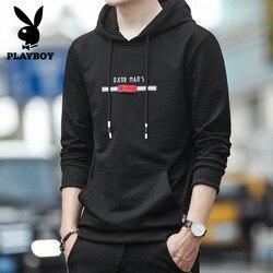 Netwerk Hot Selling Playboy Mode Mannen Koreaanse Stijl Slim Fit Capuchon Koreaanse Stijl Lange Mouwen Base Shirt Mannen 'S