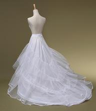 SERMENT Bridal Trailing Skirt Rims Plus Yarn Mermaid Wedding White Long Petticoat Wedding Accessories Lolita Petticoat