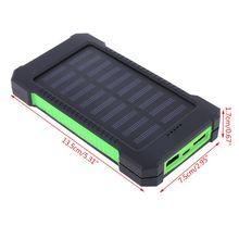 Светодиодный внешний аккумулятор с двумя портами usb и солнечной панелью, чехол в сдержанном и модном стиле, зарядное устройство, набор для самостоятельной сборки, коробка для samsung 18#820