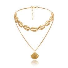 2019 Shell Necklace Choker Moana Kolye Bohemia Female Chain Sautoir Clavicle Collares Collier Women Hot Sale