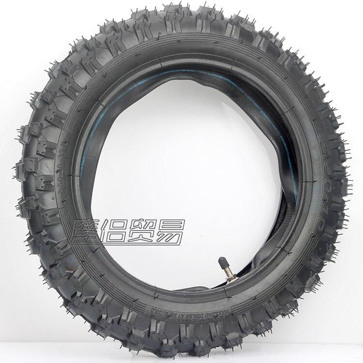 Neumático + tubo interior para Honda CRF50F, Yamaha PW50, TTR50E, 2,50-10