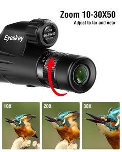Image 4 - Eyeskey Monocular con Zoom 10 30x50, Prisma Bak4, Monocular potente, impermeable, artículos de caza para acampar con trípode