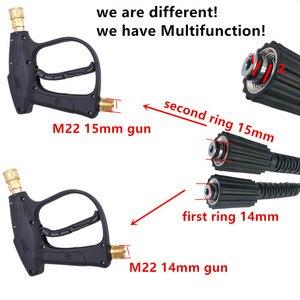 Image 3 - HNYRI M22 pin 14/15mm yüksek basınçlı yıkayıcı hortum 3000PSI kord boru su temiz uzatma hortumu Karcher Elitech Interskol/huter