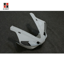 цена на ZXMT Unpainted Front Upper Head Nose Fairing Cowl For YAMAHA YZF R1 2000 2001 R1/01 UV light curing paint