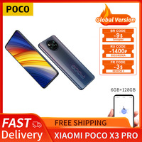 POCO X3 Pro Globale Version 6GB + 128GB Xiaomi Smartphone Snapdragon 860 120Hz DotDisplay 5160mAh 33W Ladung Quad AI Kamera Zelle