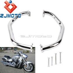 Chrome moto cadre Protection barre de sécurité moteur garde ensemble pour Suzuki Boulevard M109R 2006-2017