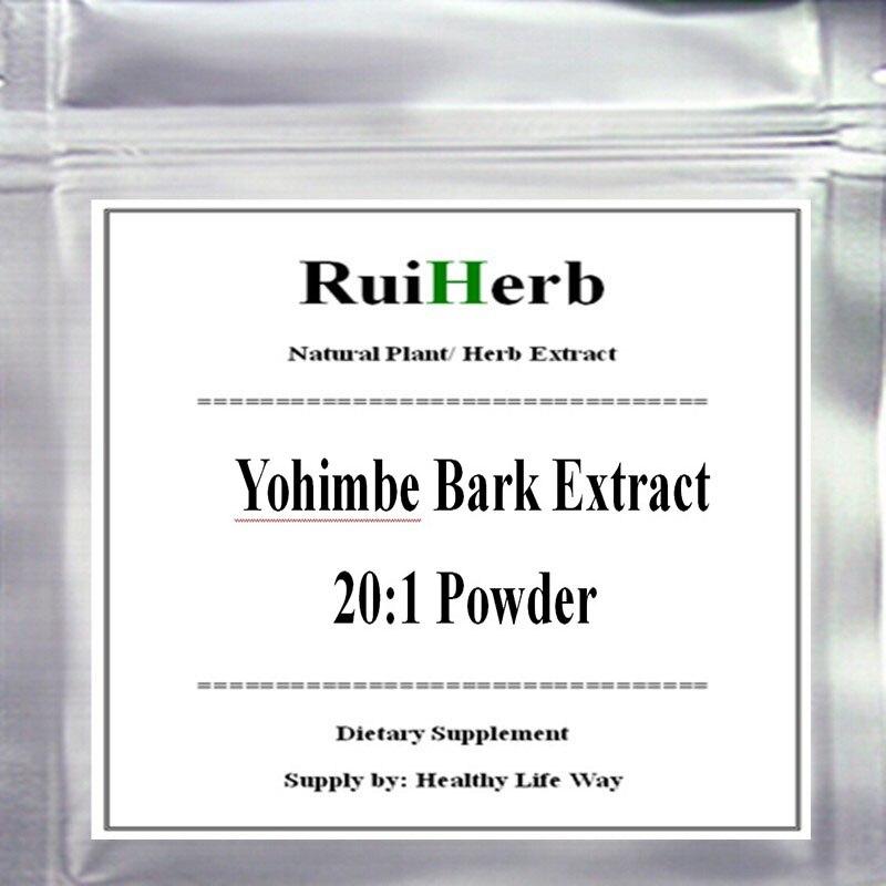 100gram Yohimbe Bark Extract 20:1 Powder free shipping