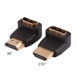 Convertidores de adaptador de Cable HDMI de 2 piezas ángulo de 270/90 grados HDMI macho a hdmi hembra para adaptador de Cable HDTV de 1080P convertidor extensor