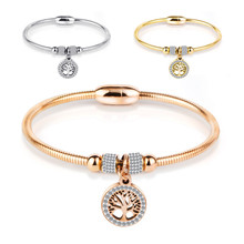 2020 Stainless Steel Magnet Woman Bracelet And Bangles Rose