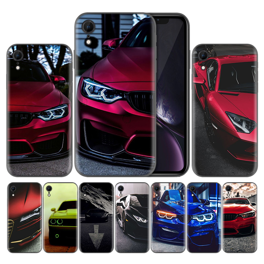 Blue Red <font><b>for</b></font> <font><b>Bmw</b></font> Soft TPU Silicone Phone <font><b>Case</b></font> <font><b>For</b></font> Apple <font><b>iPhone</b></font> 7 7S <font><b>8</b></font> Plus X XS Max XR 5 5s SE 6 6s Capa Back Covers image