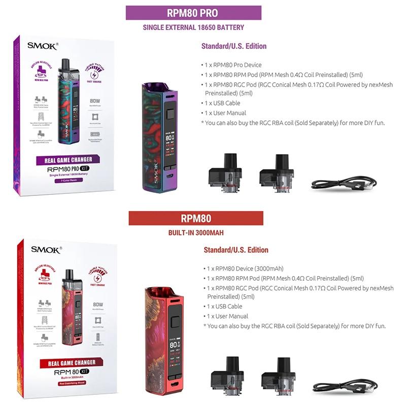 Big Discount Dd49 Smok Vape Rpm80 Pro Kit Cigarette