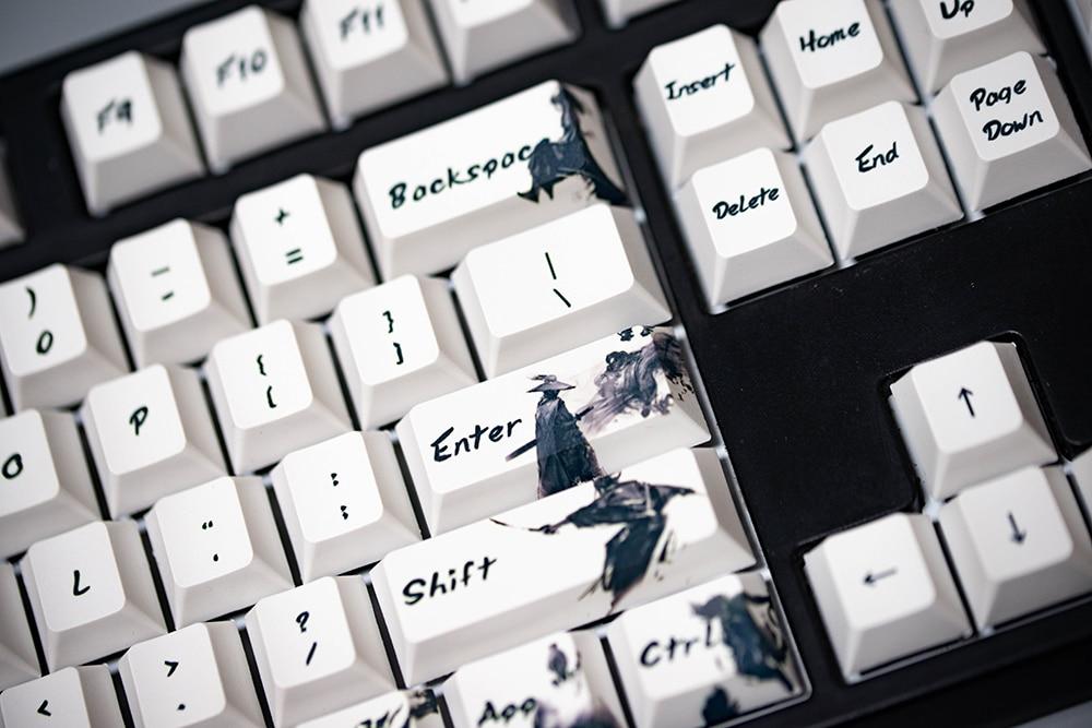 cherry profile keycaps para mx switches teclado cavaleiro errant chave boné