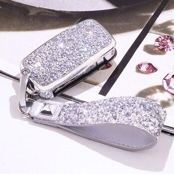 Luxury Diamond Crystal Car Key Case Cover Shell Fit VW Golf Bora Jetta POLO GOLF Passat Skoda Octavia A5 Fabia SEAT Ibiza Leon