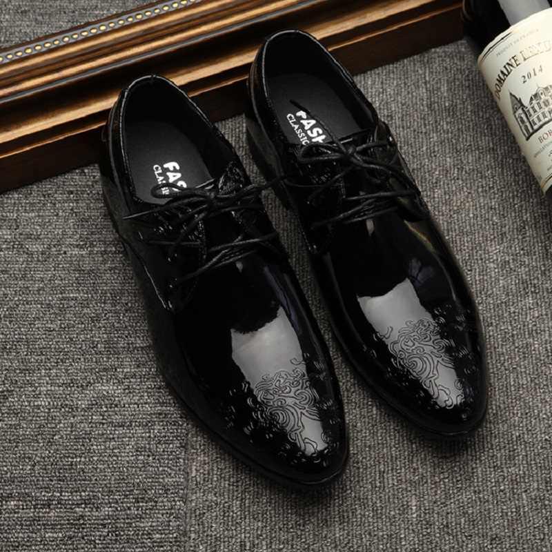 Zapatos Oxfords De Cuero De Talla Grande Para Hombre Zapatos Formales Transpirables Con Cordones Para Oficina Para Hombre Tallas Grandes 38 48 Zapatos Planos De Vestir Informales Para Hombre Zapatos Informales De Hombre