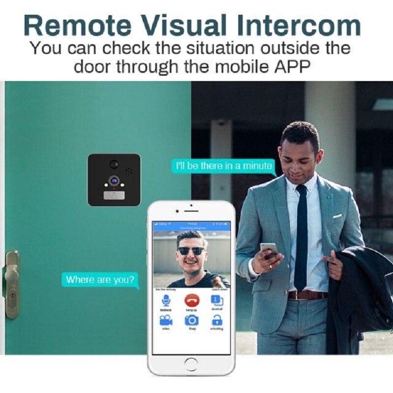 Saful 5 ''Wifi porte judas visionneuse porte caméra 120 degrés avec détection de mouvement Vision nocturne sonnette de maison intelligente - 6