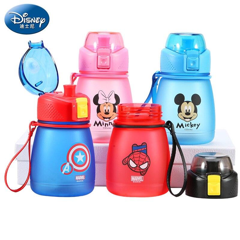 Disney Cup Minnie Minnie Mouse Baby Kids Cups Water Bottle Drinking Disney Mug Newborn Baby Portable Feeding Sippy Bottles