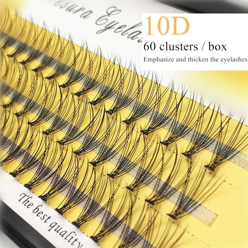 60 кластеров/коробка индивидуальных ресниц, густые Кластерные ресницы для наращивания 0,07/0,1, 3D ресницы, натуральные накладные ресницы, оптов...