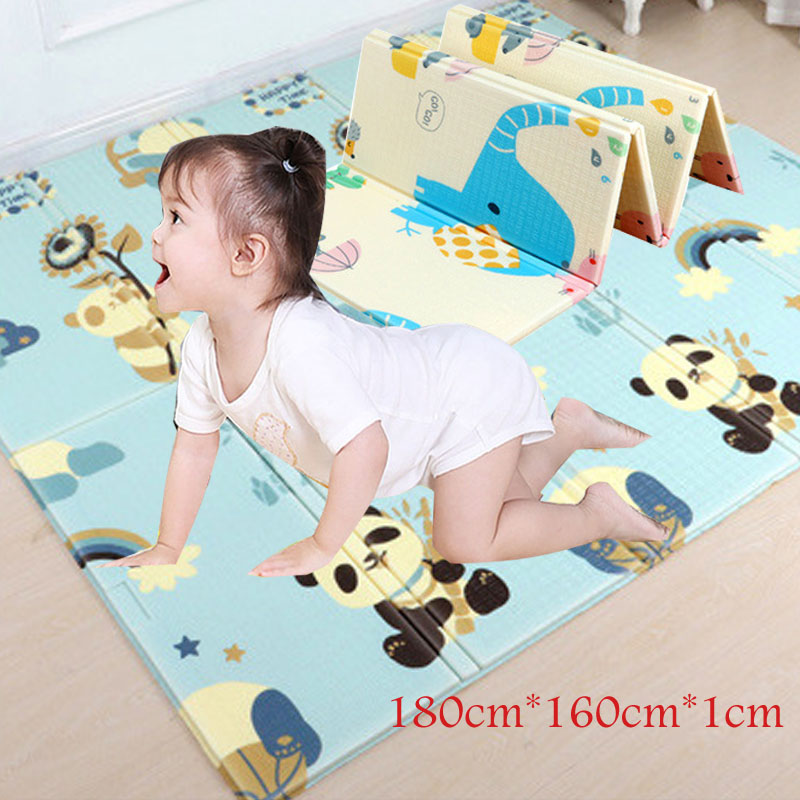 XPE New Year Baby Foldable Play Mats Games Mat Cartoon Anti-skid Carpet Children's Mat Climbing Pad Kids Rug Baby Crawling Mat