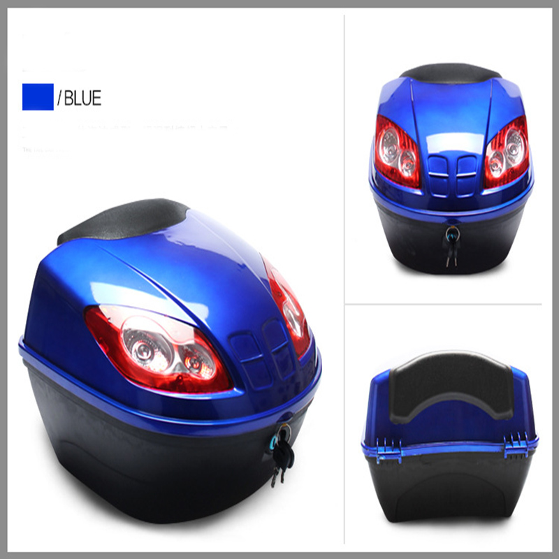 Mini Motorcycle Rear Trunk Large Capacity Motorcycle Colorful Tour Tail Box Trunk Fashion Resistant Electric For Yamaha