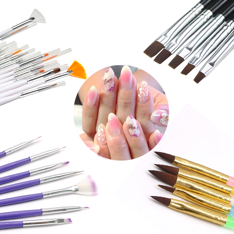 Multic Style Acrylic Nail Art Brush DIY Gel Polish Painting Drawing Brushes Pen Nail Dotting Manicure Nail Art Decoration Tools