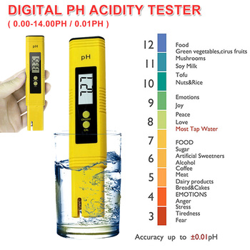 PH Acidity Meter Pen Tester Water Quality Testing Equipment PH 0-14/0.01 for Domestic Water/ Aquarium Water/ Food Acids