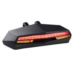 Abs Smart Achter Laser Fietslicht Fiets Lamp Led Usb Oplaadbare Draadloze Afstandsbediening Draaien Controle Fietsen Fiets Licht