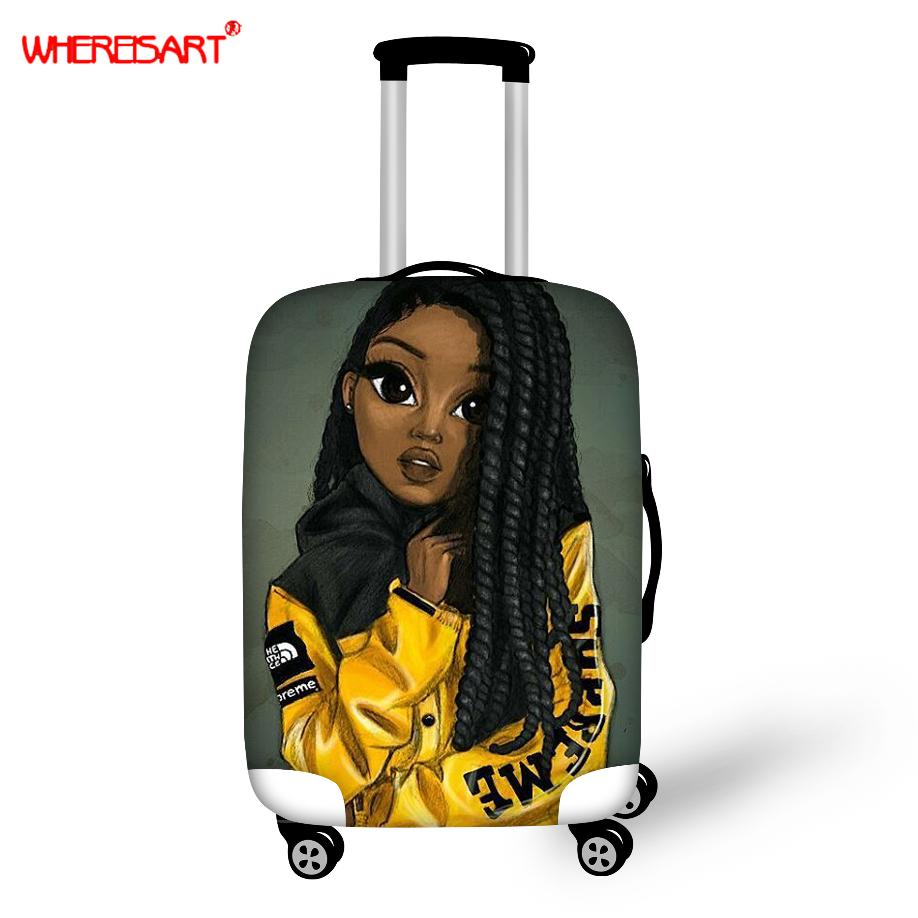 WHEREISART Accessories Protective-Cover Luggage Trolley Travel-Case Rain-Bags Women's