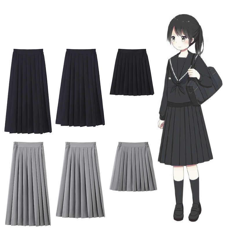 Japanse Stijl College Uniformen Meisjes Vrouwen Solid Plooirok High School Student JK Suits Academy Preppy Zeeman Sakura Jurk