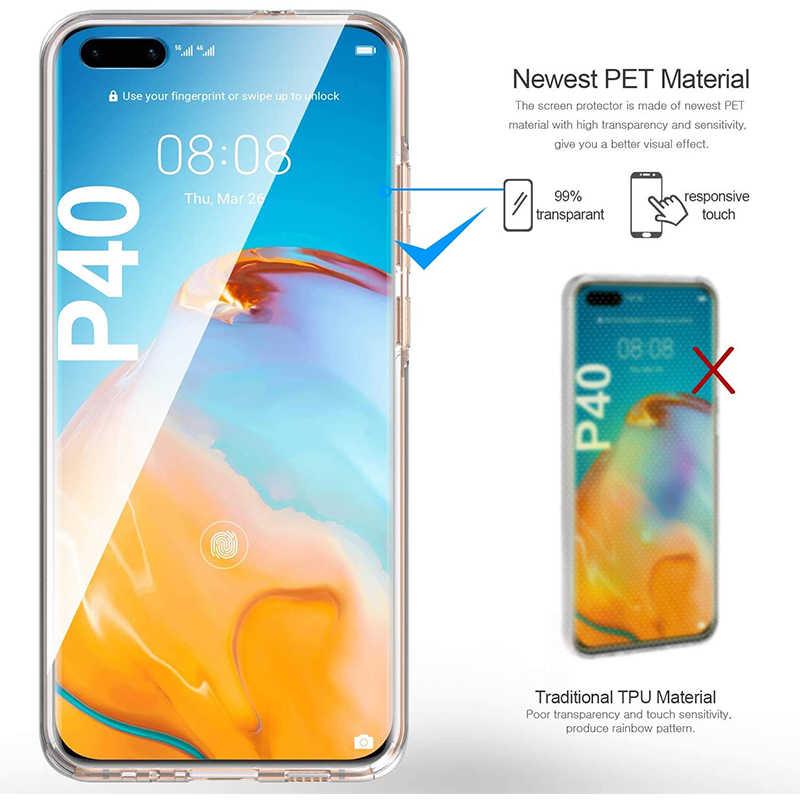 מלא גוף רך TPU + מחשב מקרה ברור 360 להגן על כיסוי עבור Huawei P30 P40 Lite E פרו נובה 7i 5T Y6P Y7P כבוד 9C